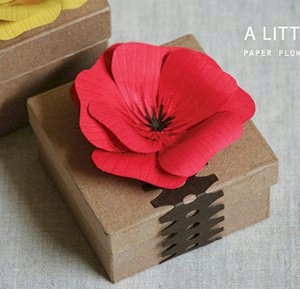 Paper Flower Gift Box Decoration