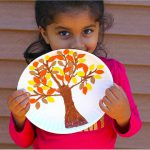 Paper Plate Fall Tree Craft