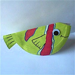 Image of Folded Paper Plate Fish