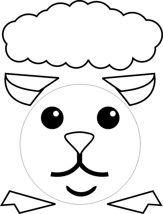 Paper plate lamb for Cardboard sheep template