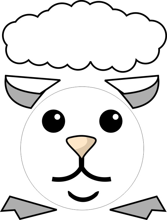 Paper plate lamb for Cardboard sheep template