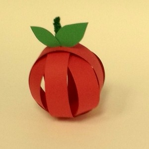 Image of Paper Strip Apple Craft