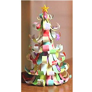 Make A Christmas Tree From Scrap Paper