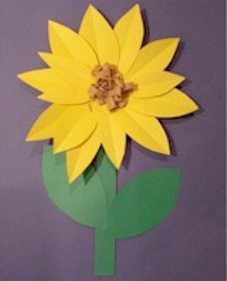 Image of Paper Sunflowers