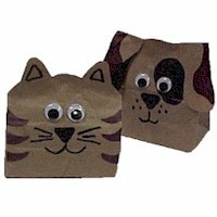Image of Paper Bag Dog Puppet