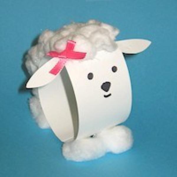 Easy Paper Loop Lamb