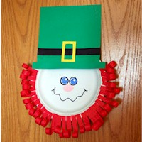 Free Kids Crafts Paper Plate Leprechaun