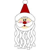 Image of Cotton Ball Santa