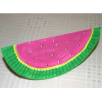 Image of Paper Plate Watermelon