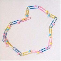 Image of Pony Bead Cross Necklace