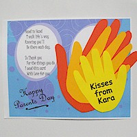 Image of Handprint Parents Day Card
