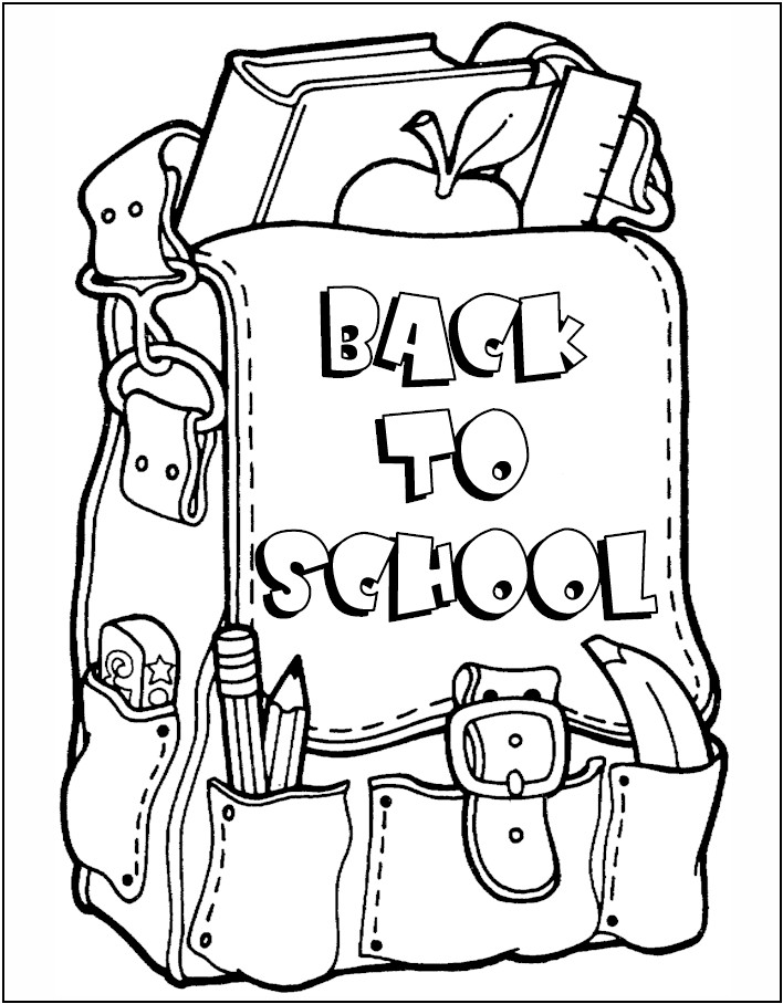 back to school coloring page - First Day Of School Coloring Page