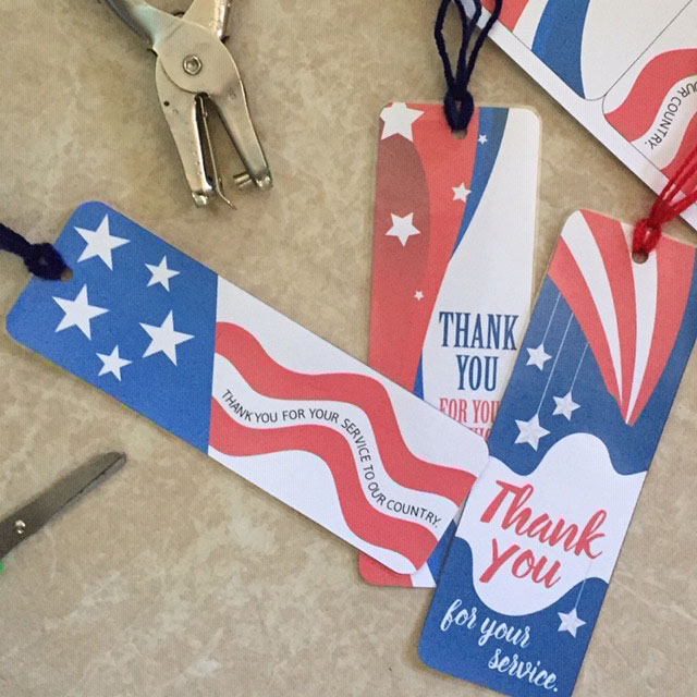 Printable Patriotic Bookmarks for young children to make.