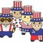 Image of Printable Patriotic Buddies Paper Dolls