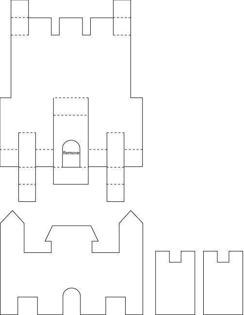 Pop up castle patterns templates and printables pronofoot35fo Images