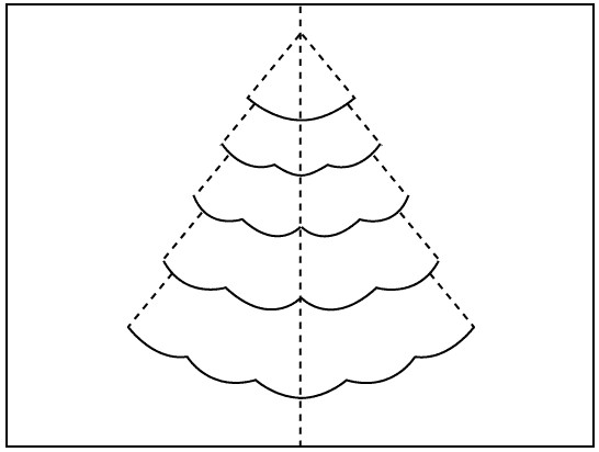 Christmas Tree Pop Up Card - Pop up cards templates free