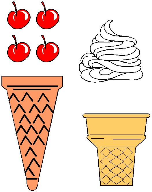 Intrepid image throughout ice cream cone printable