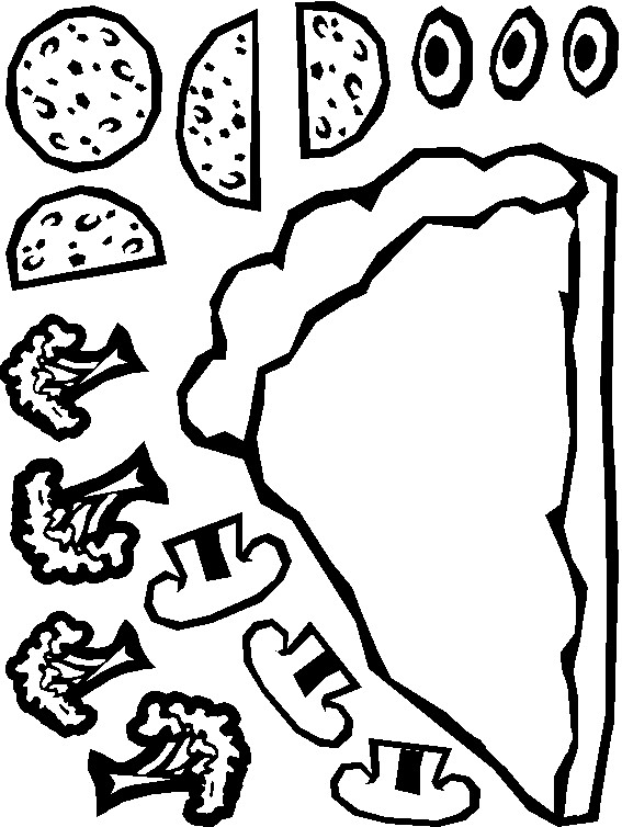 image relating to Printable Pizza Toppings titled Lower and Paste Paper Pizza