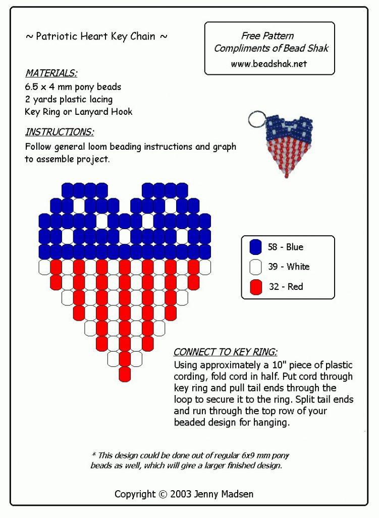 Patriotic Key Chain Craft