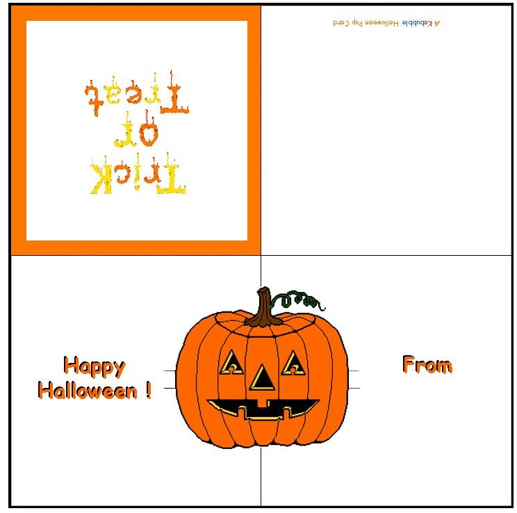 Pumpkin Pop Up Card