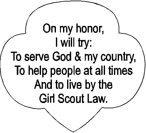 graphic regarding Girl Scouts Promise Printable called Lady Scout Guarantee