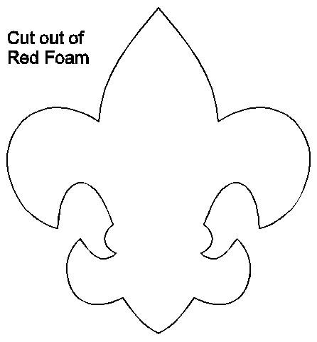 photograph relating to Fleur De Lis Stencil Printable named Boy Scout Window Hanger