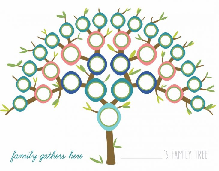 Printable Peacock Family Tree