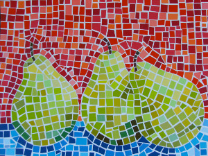 Pear Paint Chip Mosaic
