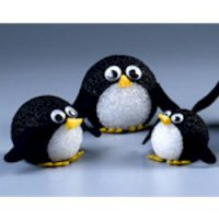 Image of Cute Paper Mache Penguins
