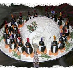 Penguin and Igloo Cheese Ball