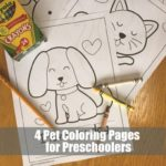 4 Pet Coloring Pages
