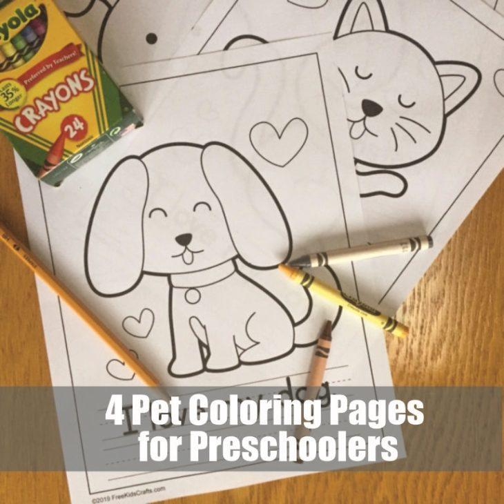 4 Pet Coloring Pages