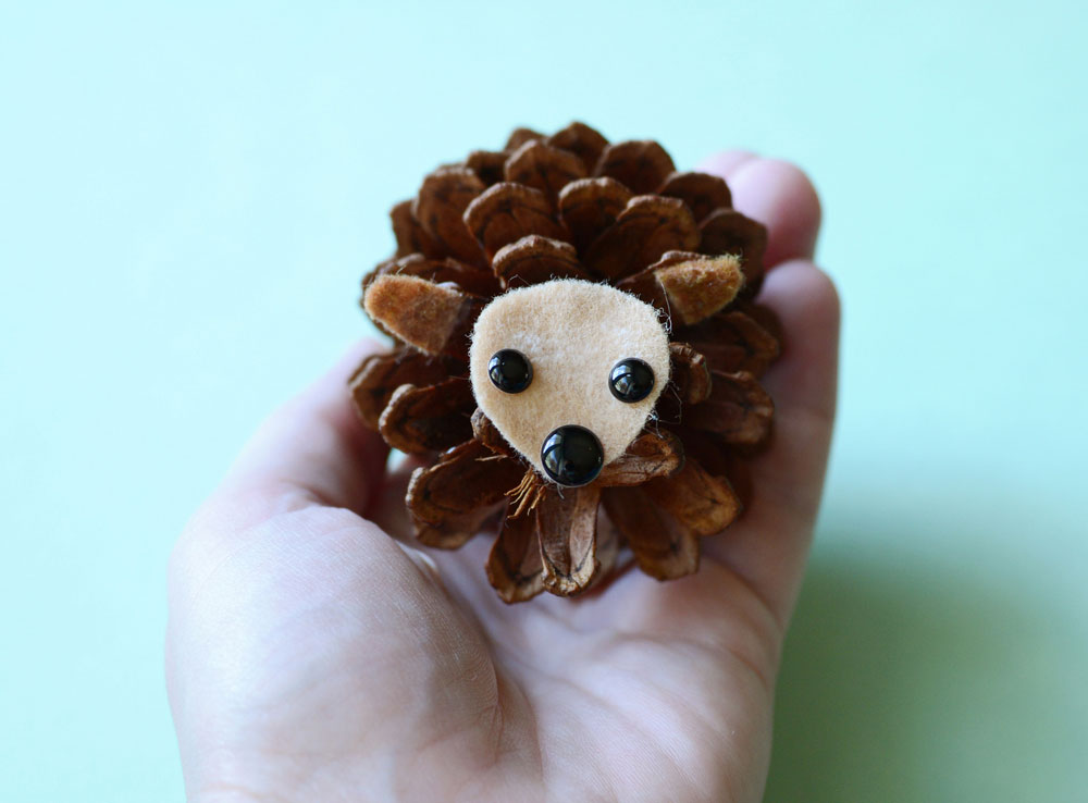 Hedgehogs From Pine Cones