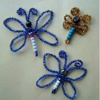 Image of Easy Beaded Butterfly Pins