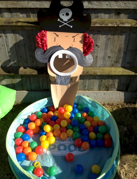 Pirate Ball Toss Game