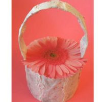 Image of Paper Plate Flower Basket