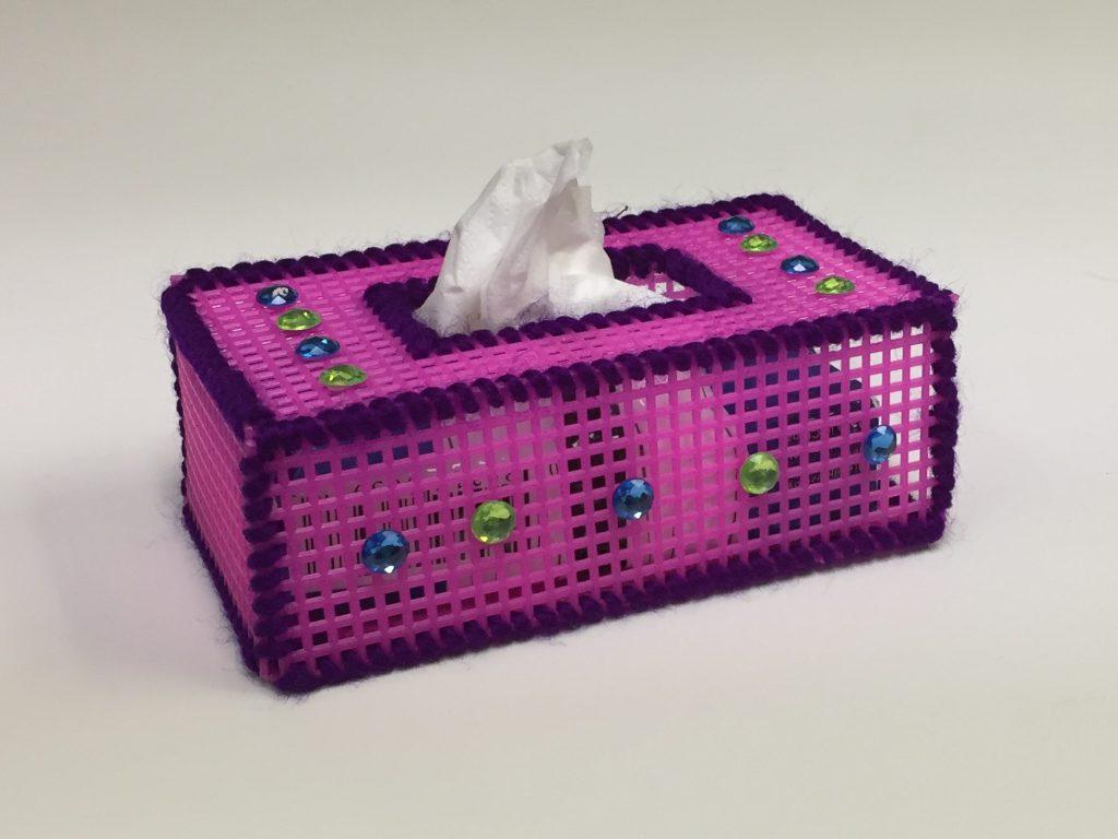 DIY plastic canvas tissue box