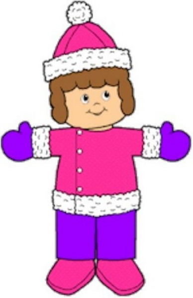 Winter Playtime Paper Dolls
