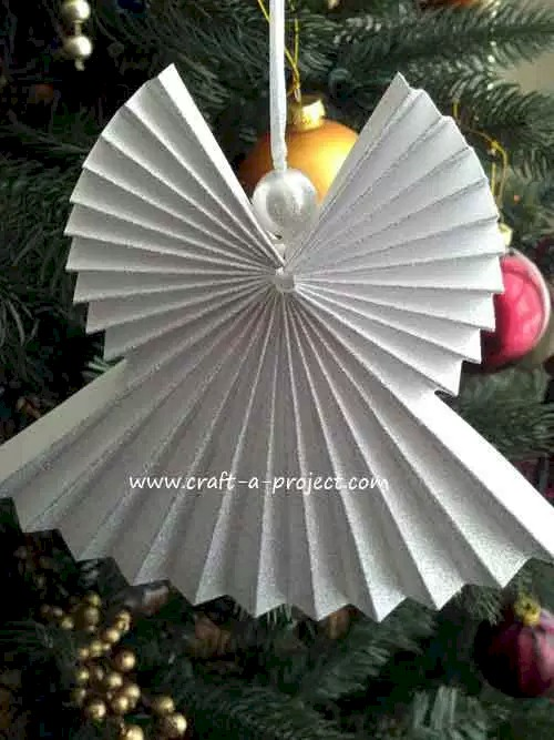 Image of Pleated Paper Angel Ornament