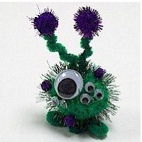 Image of Pom Pom Flowered Desk Caddy