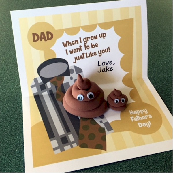 "Printable Father's Day Emoji ""Poop"" Card"