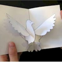 Image of Tissue Paper Bald Eagle Craft