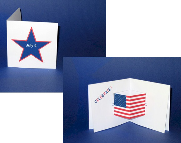 Printable Pop Up July 4th Card