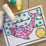 Preschool Dolphin Dot Art Activity