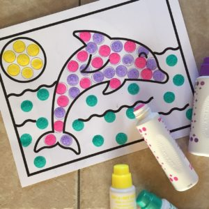 Dolphin dot art activity