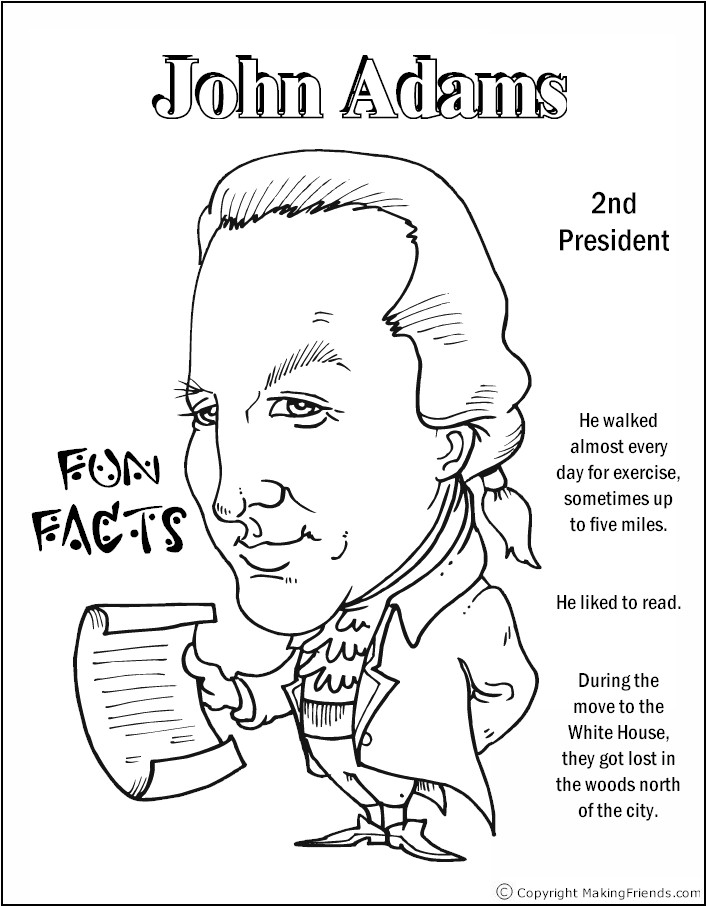 coloring pages of the president | Presidents Coloring Pages