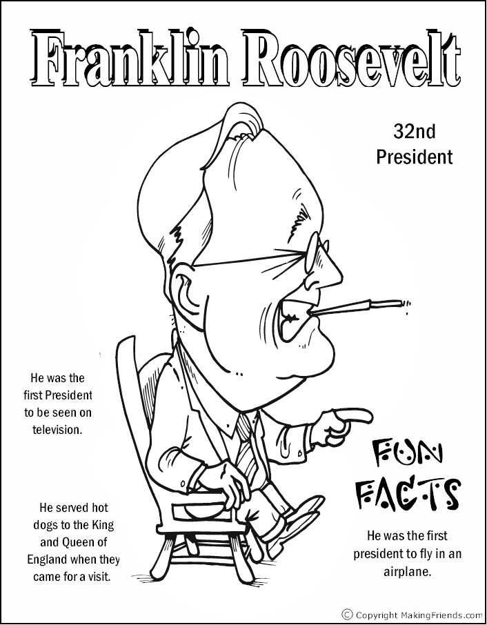 roosevelt coloring pages - photo#24