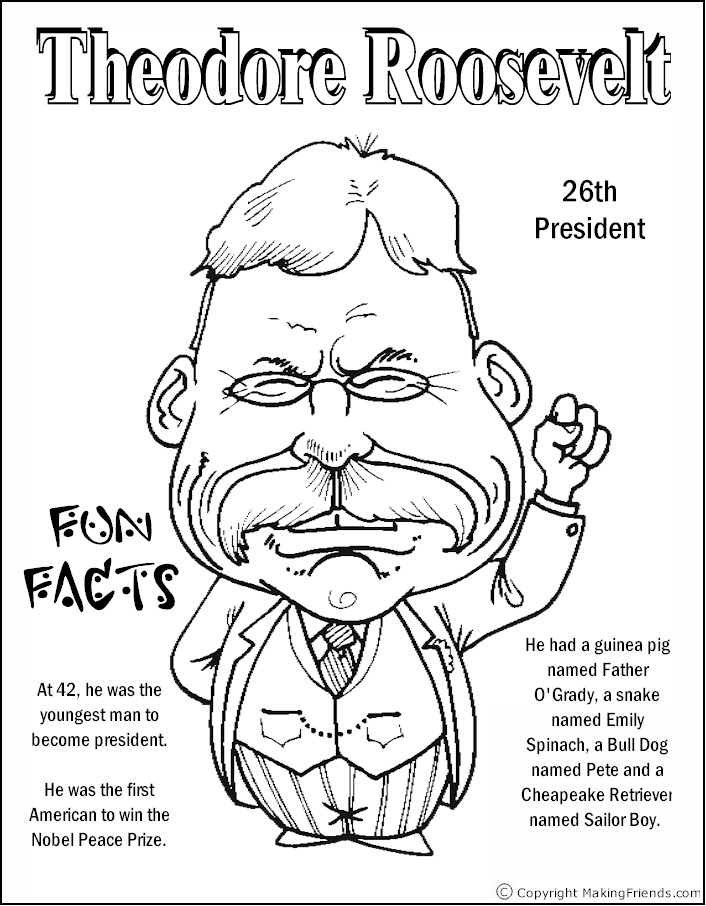 president-roosevelt-coloring-page