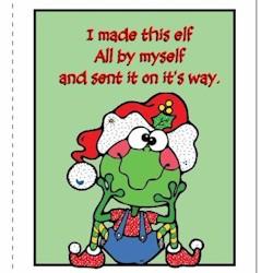 Printable Elf Thank You Card