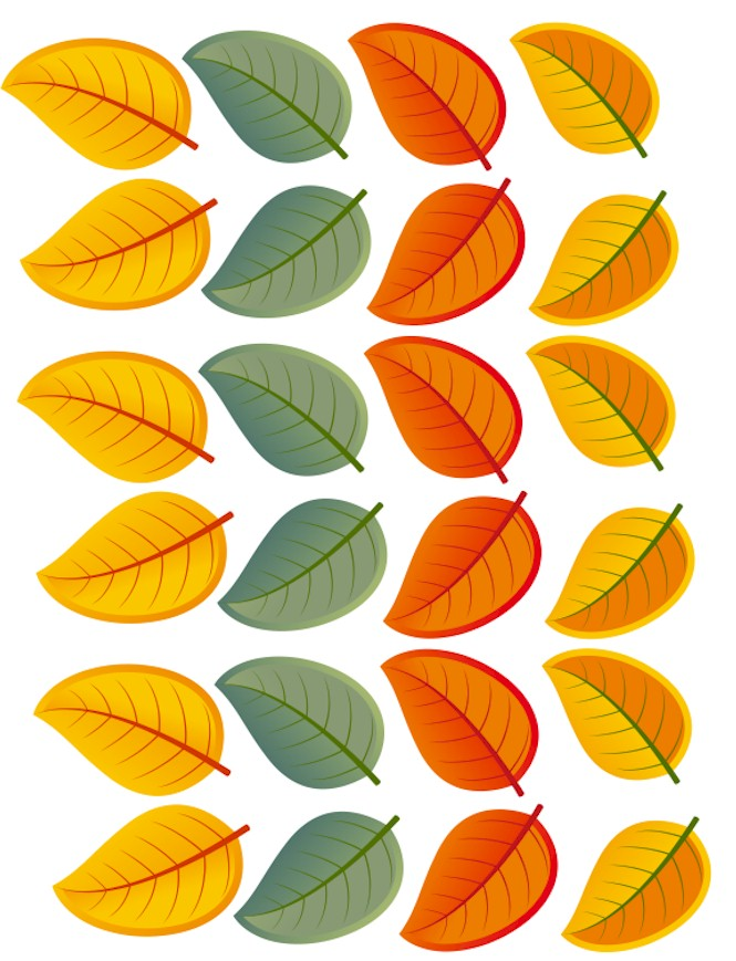 printable leaves color